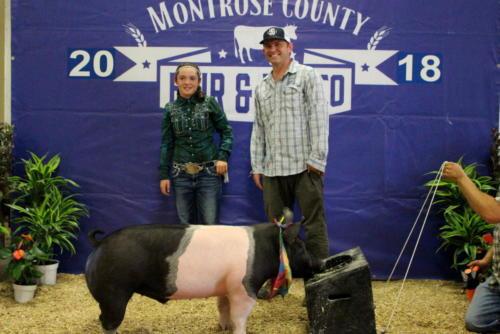 Grand Champion Carcass Market Swine - Haley Cox - Mountain Quality Marketing
