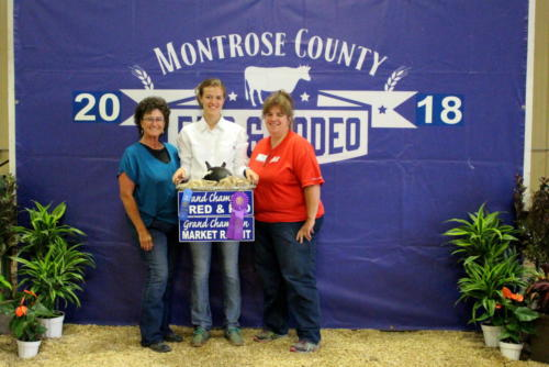 Grand Champion Market Rabbit-Grand Champion Bred & Fed -Champion Roaster-Aubrie Lewis - City Market Downtown & City Market South