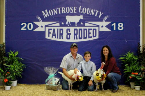 Grand Champion Market Turkey - Pen of 2 - Tanner Yeager - West Slope Ag