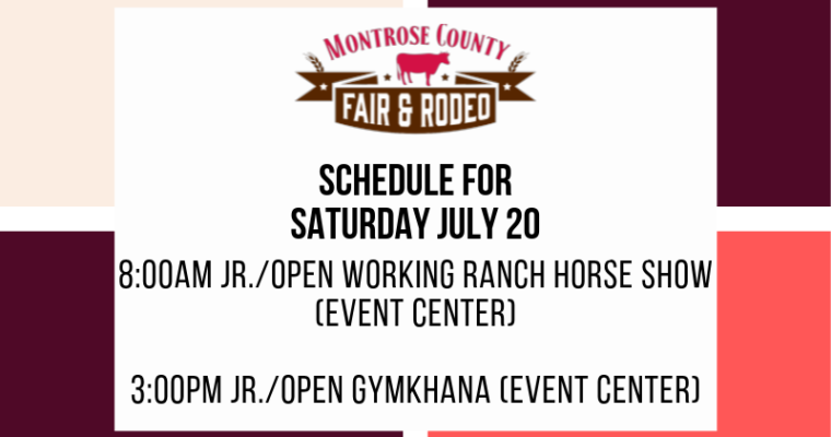Jr/Open Working Ranch HorseShoe & Jr/Open Gymkhana 8am & 3pm