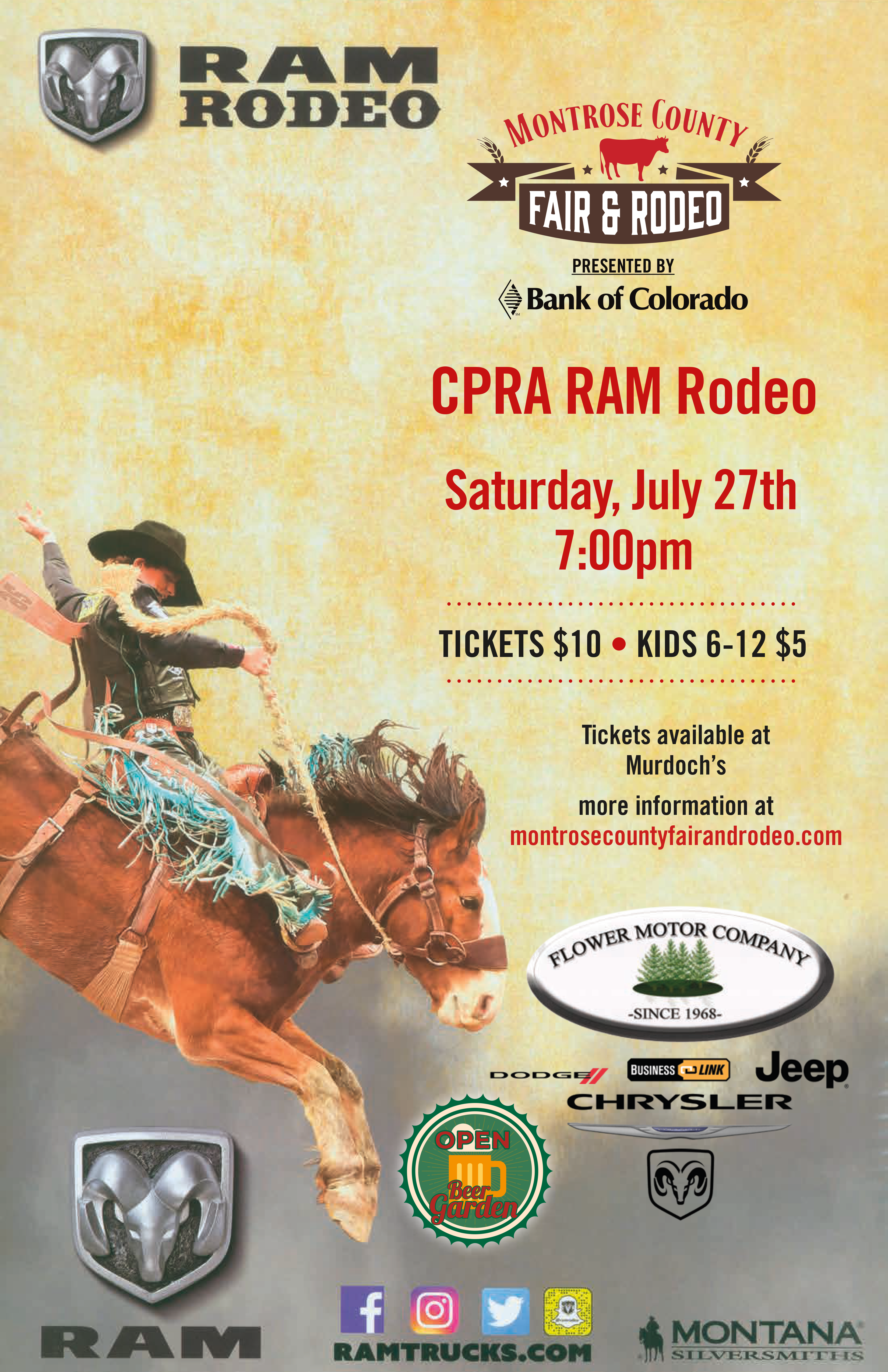 Tickets Montrose County Fair And Rodeo