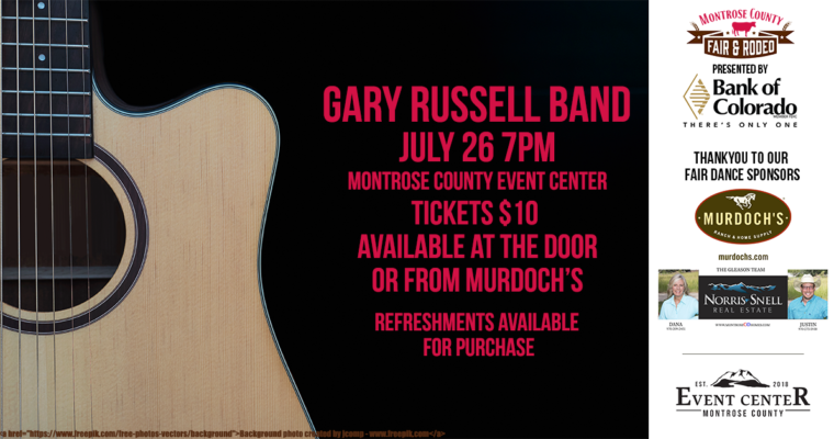 Gary Russell Band Friday 7/26 at 7pm